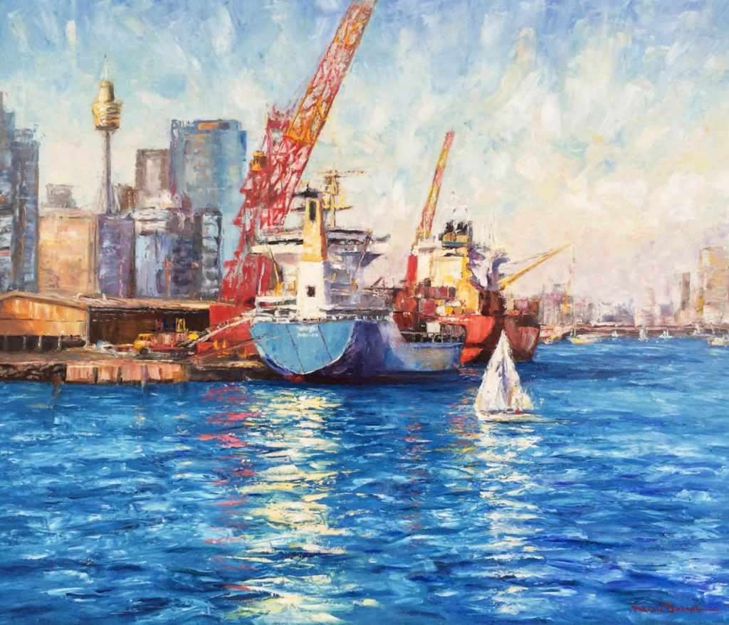 City Blue-Sydney-Artwork-Neale-Joseph-Australia