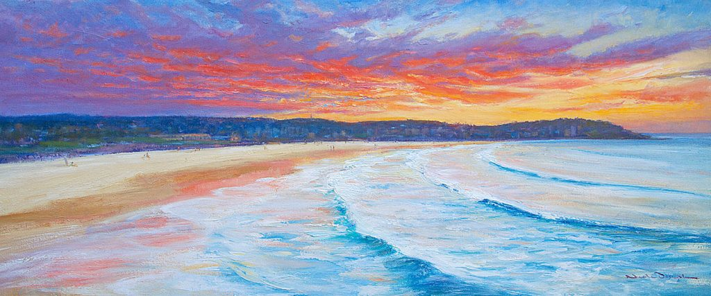 Sunset over Bondi Beach-Sydney-Artwork-Neale-Joseph-Australia